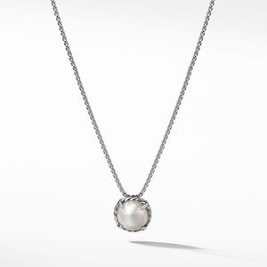 David Yurman Chatelaine Pendant Necklace w/ Pearl